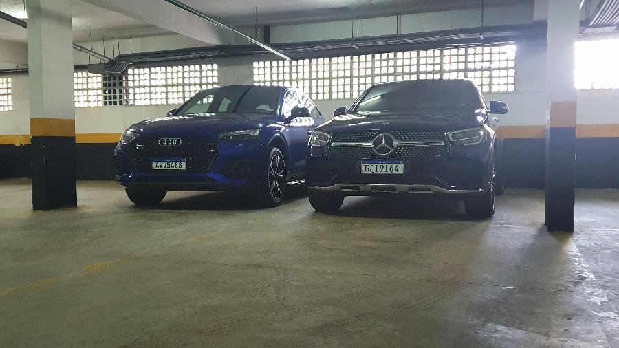 Audi Q5 Sportback e Mercedes-Benz GLC 300 Coupé - Rafaela Borges/UOL