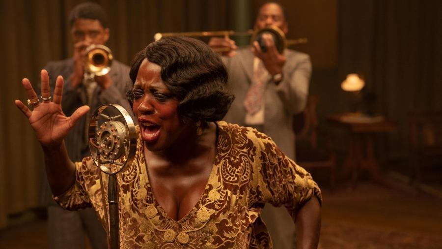 "Viola Davis transcendental como Ma Rainey em ""A Voz Suprema do Blues"" - David Lee/David Lee/Netflix"