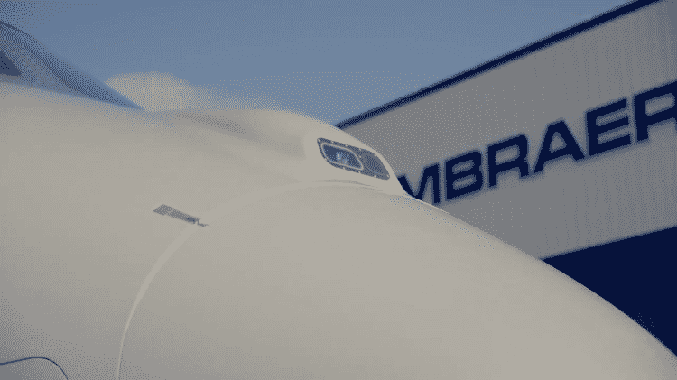 Praetor 500 com EVS - Divulgação/Embraer - Divulgação/Embraer