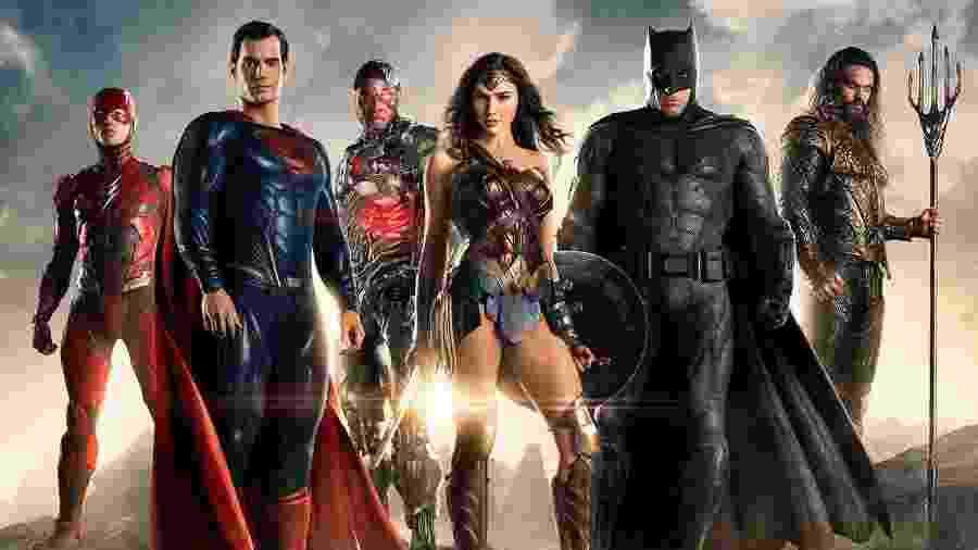 """Os maiores heróis da Terra em """"Liga da Justiça"""" - Warner"""