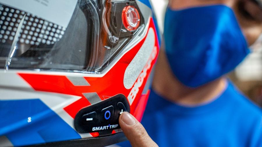Membrana Smart Trip tem espessura de uma fita dupla face e funciona com tecnologia Bluetooth - Divulgação