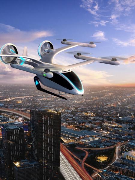 Embraer recebeu encomenda de até 100 eVTOLs (veículo elétrico de pouso e decolagem vertical) da Avantto para entrega a partir de 2026 - Divulgação/Embraer