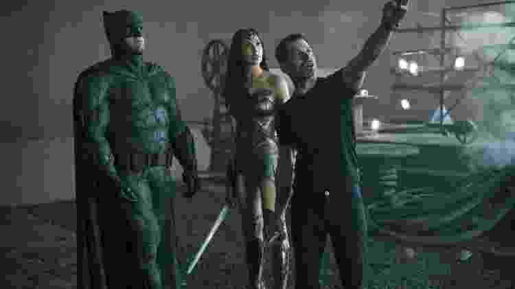 Zack Snyder dirige Ben Affleck e Gal Gadot em 'Liga da Justiça' - Warner