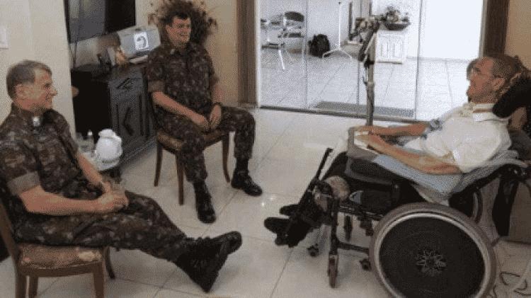 General Paulo Sérgio se encontra com antecessores: Pujol e Villas Bôas - Exército Brasileiro - Exército Brasileiro
