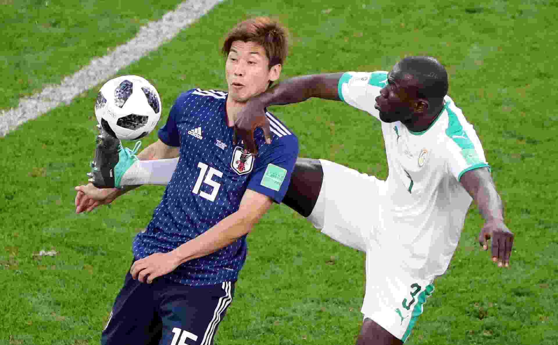 Japão Senegal Copa do Mundo dividida Osako Koulibaly - Marcos Brindicci/ Reuters
