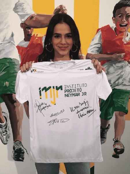 Bruna Marquezine no Instituto Neymar Jr. - reprodução/Instagram