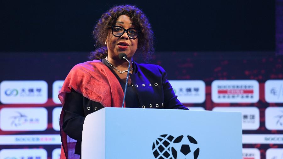 Fatma Samoura, secretária-geral da Fifa - AFP PHOTO / GREG BAKER
