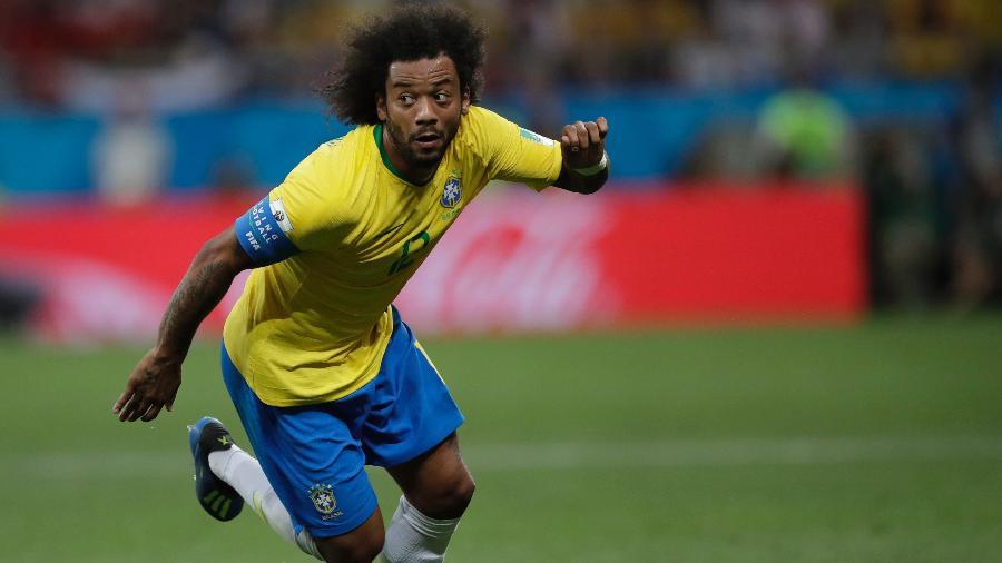 Brasil, do lateral Marcelo, volta a campo na manhã desta sexta,  - André Mourão/MoWa Press