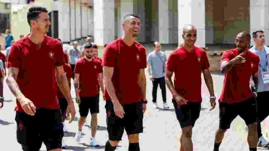 Cristiano Ronaldo aparece com novo visual para Portugal x Uruguai - Reprodução/Twitter
