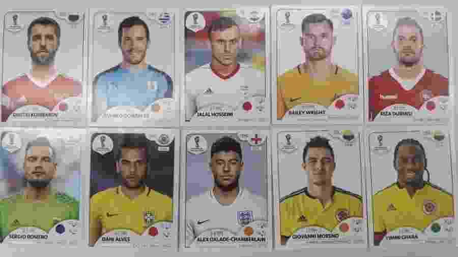 Figurinhas de jogadores que não disputarão a Copa do Mundo de 2018 - UOL Esporte