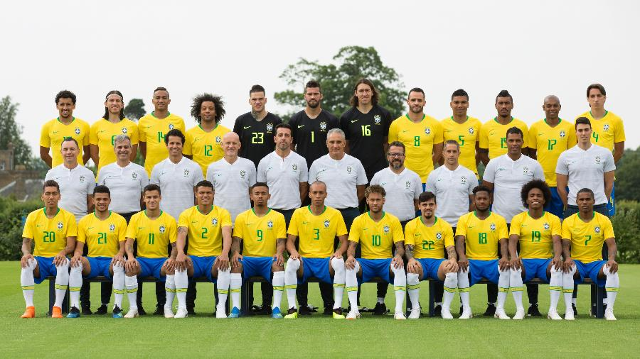 Seleção brasileira posa para a foto oficial da Copa do Mundo - Lucas Figueiredo/CBF