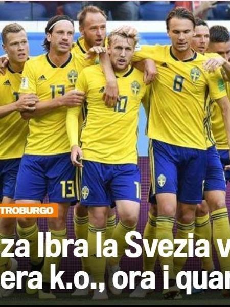 Jornal italiano zomba de Ibrahimovic após vitória da Suécia - Reprodução/Gazzetta dello Sport