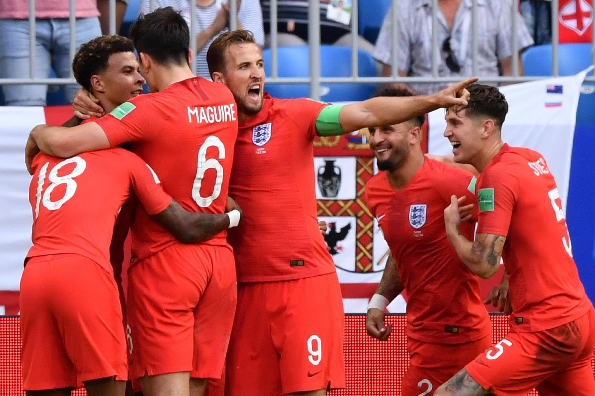 Inglaterra na Copa 2018  Inglaterra vai à semi com time formado por atletas  desacostumados a títulos - UOL Copa do Mundo 2018 bad192df72b74