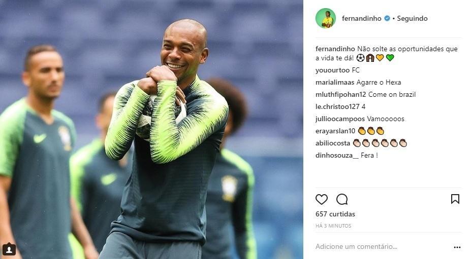 Fernandinho publica: