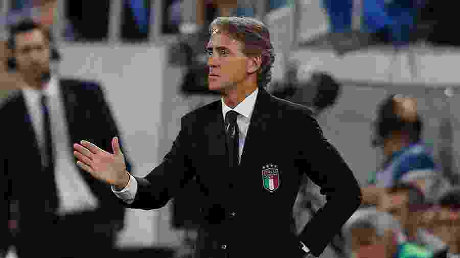 Roberto Mancini é técnico da seleçao da Itália e comemorou o adiamento da Eurocopa - Arnd Wiegmann/Reuters