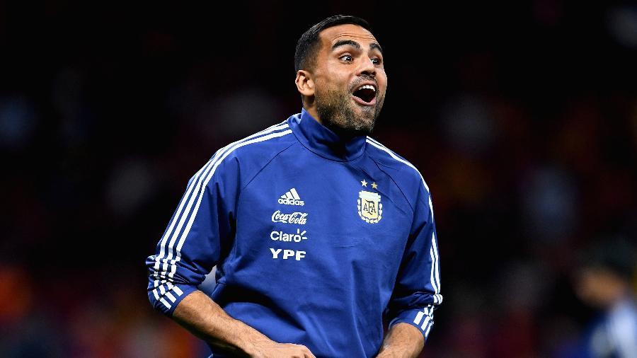O lateral Gabriel Mercado, do Sevilla, foi um dos 23 jogadores convocados por Jorge Sampaoli - David Ramos/Getty Images