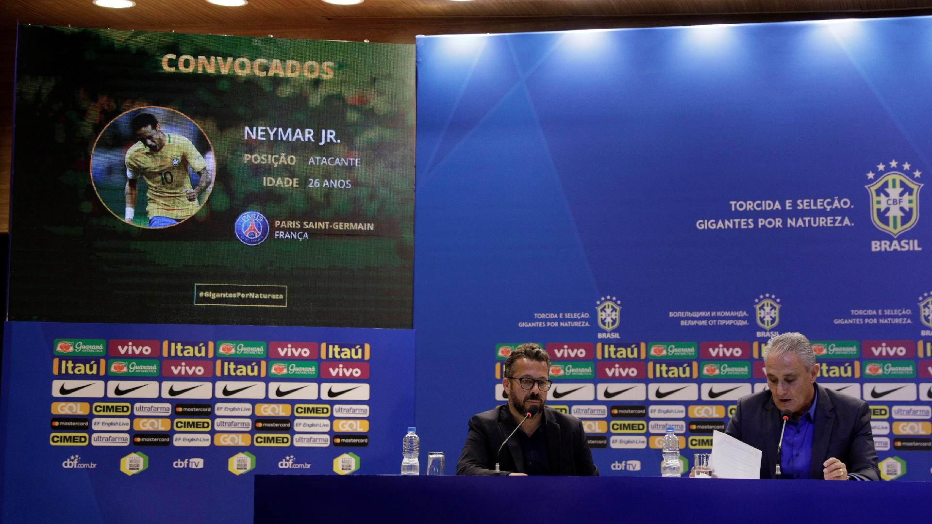 Tite em entrevista coletiva para anunciar os convocados para a Copa do Mundo 2018