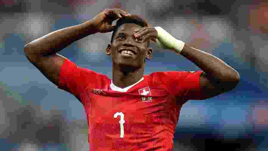 Embolo durante jogo da Suíça contra a Costa Rica - REUTERS/Ivan Alvarado
