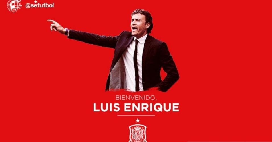 Espanha anuncia Luis Enrique como técnico