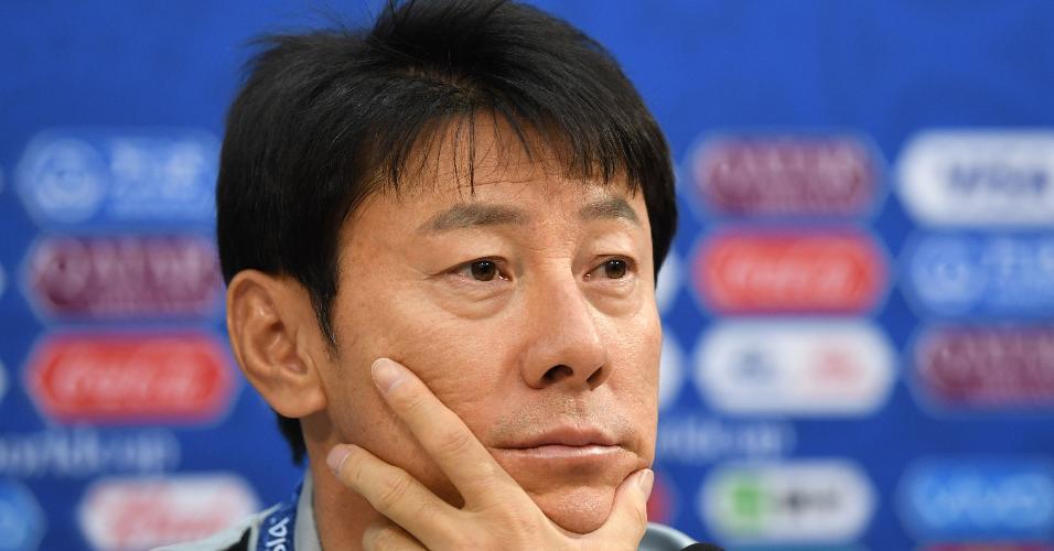Shin Tae-yong, técnico da Coreia do Sul, concedeu entrevista coletiva neste domingo (17)