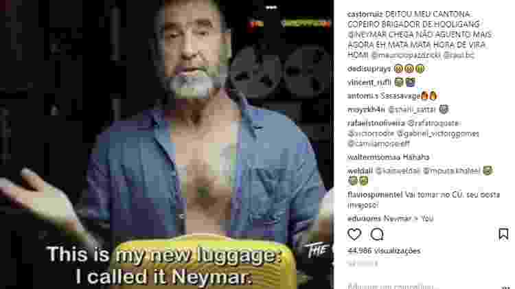 Cantona - Reprodução/Instagram - Reprodução/Instagram