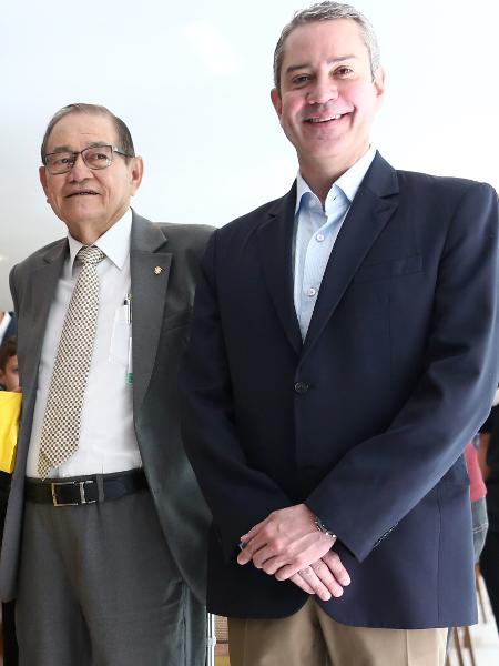 Edu Gaspar, Tite, Zagallo, Coronel Nunes e Rogério Caboclo na Granja Comary, em Teresópolis - Lucas Figueiredo/CBF