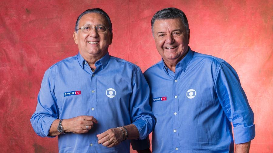 Galvão Bueno, com Arnaldo Cezar Coelho, volta a transmitir jogos da seleção brasileira - João Miguel Júnior/Globo