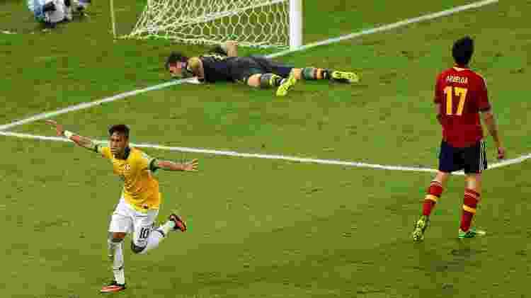 Neymar Espanha Copa das Confederações - Ronald Martinez/Getty Images - Ronald Martinez/Getty Images