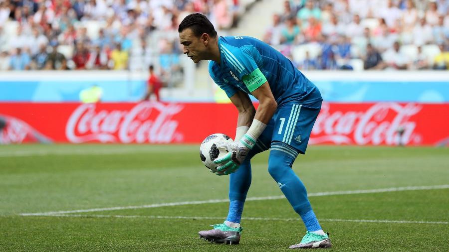 Essam El Hadary durante o jogo Egito x Arábia Saudita - Kevin C. Cox/Getty Images