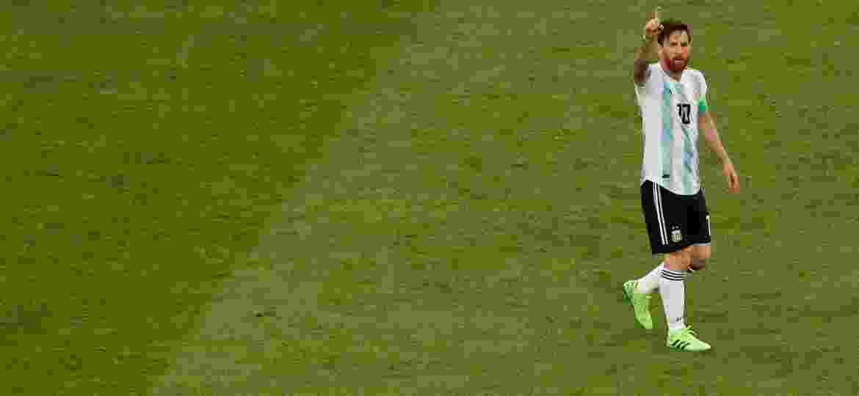 Lionel Messi comemora seu primeiro gol na Copa do Mundo de 2018 - Lee Smith - 26.jun.2018/Reuters