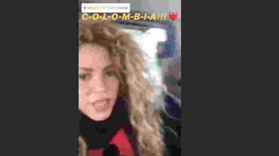 Shakira torce para a Colômbia - Reprodução/Instagram