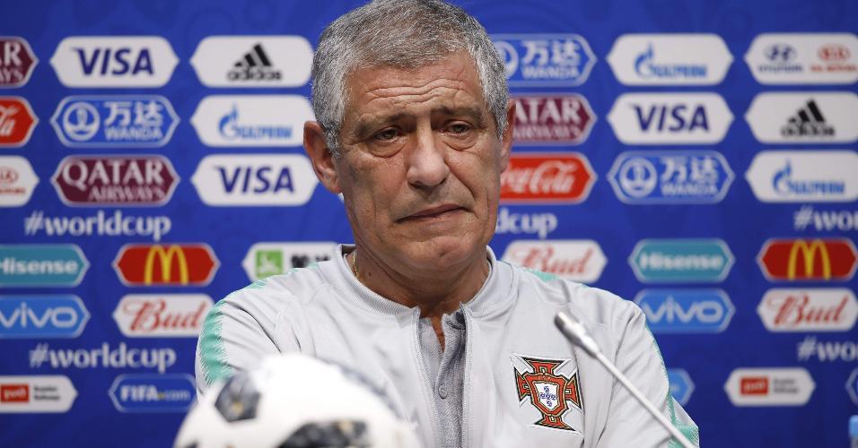 Fernando Santos, treinador da seleção portuguesa em coletiva de imprensa nesta quinta-feira