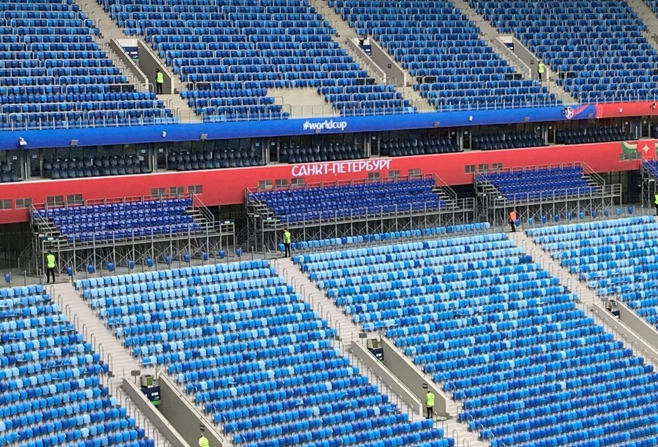 Arquibancadas da Arena de São Petersburgo