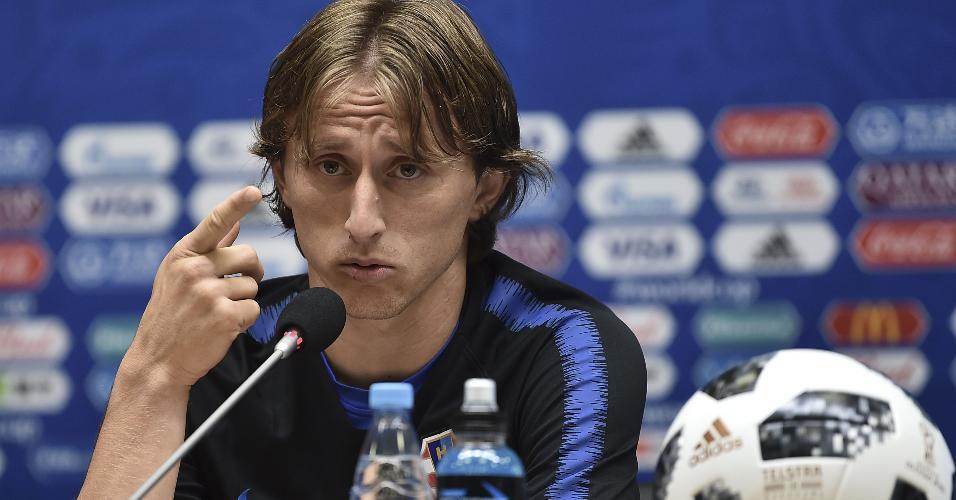 Luka Modric concede entrevista coletiva na véspera de Croácia x Nigéria na Copa do Mundo