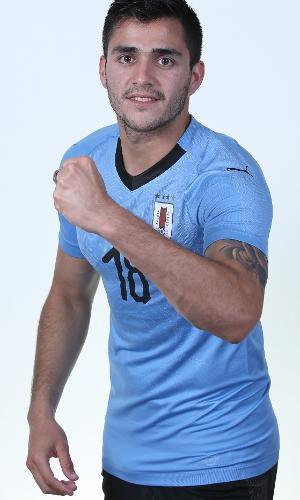 Maximiliano Gomez, jogador do Uruguai na Copa 2018