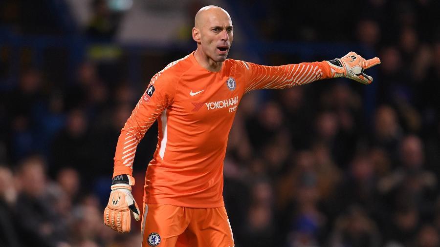 Caballero tem 36 anos e hoje é o goleiro reserva do Chelsea - Mike Hewitt/Getty Images
