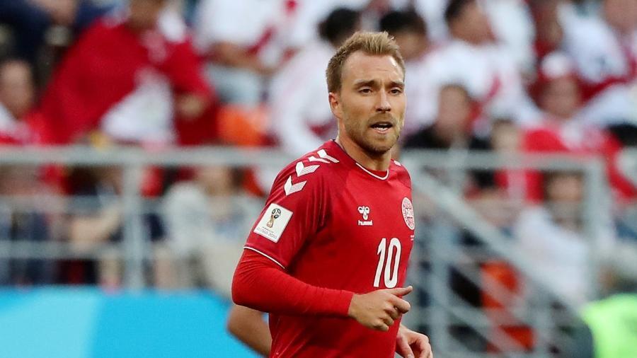 O criativo meia Eriksen é a esperança de uma Dinamarca que fez um jogo ruim na estreia - Marcos Brindicci/Reuters