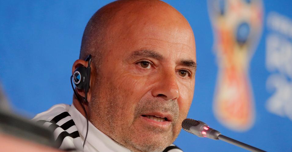 Jorge Sampaoli falou na véspera da estreia da Argentina