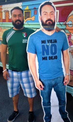 Javier Amador foi à Copa depois que foto com seus amigos e um cartaz seu viralizou no México