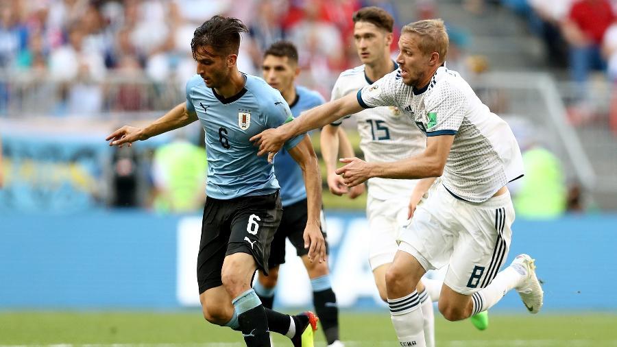 O volante Rodrigo Bentancur é um dos símbolos da reformulação na seleção uruguaia - Maddie Meyer/Getty Images