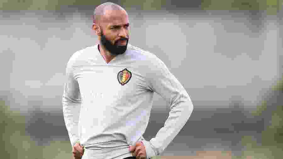 Ex-jogador francês Thierry Henry atuou na comissão técnica da Bélgica na Copa da Rússia - AFP PHOTO / Belga / BRUNO FAHY
