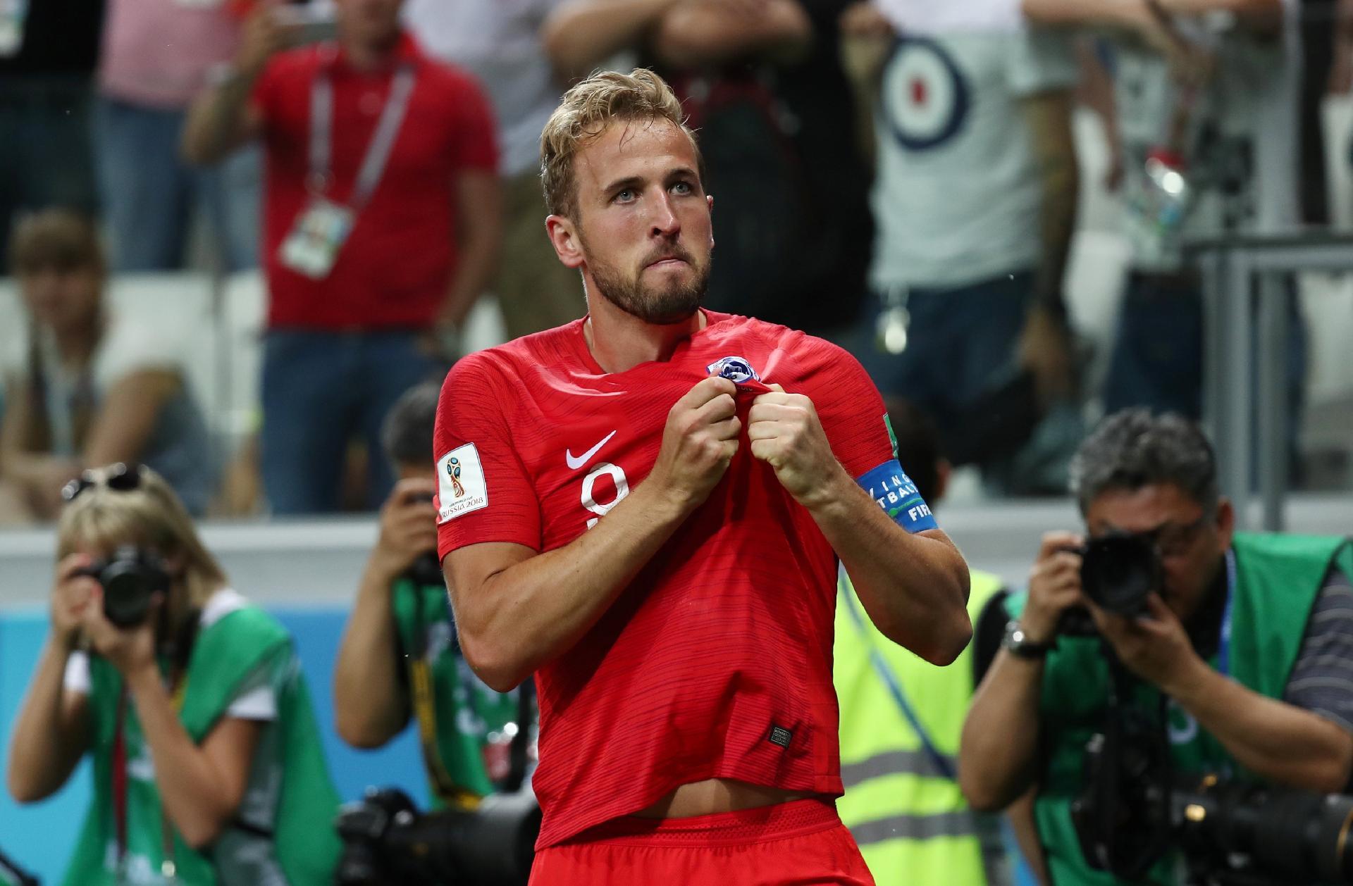 Copa do Mundo 2018  Kane celebra