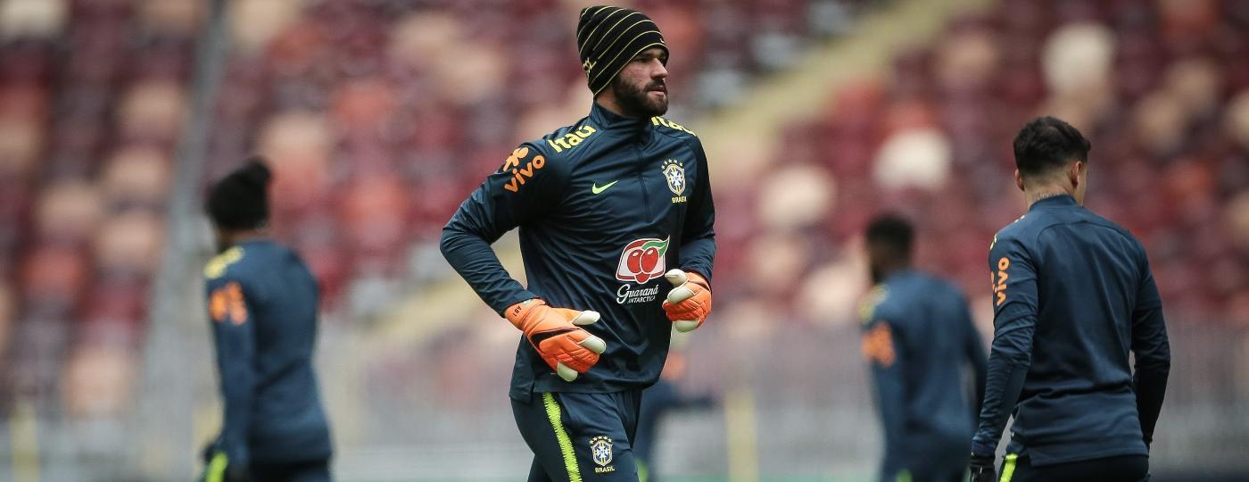 Alisson treina na véspera de Rússia x Brasil em Moscou - Pedro Martins/MoWa Press