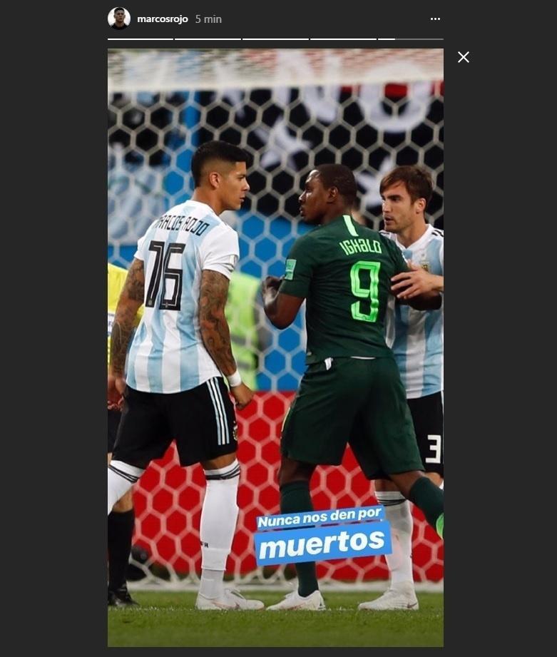 Autor do gol da classificação argentina, Rojo diz: