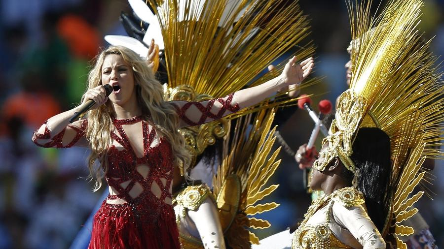 Em 2014, Shakira fez show no encerramento da Copa do Mundo sediada pelo Brasil - AFP PHOTO / ADRIAN DENNIS