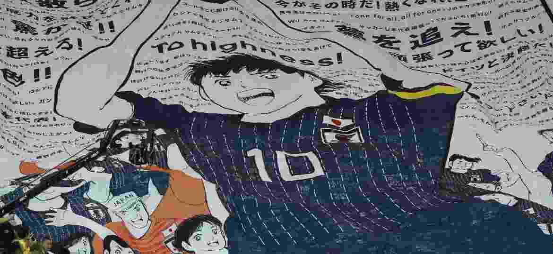 Bandeirão no jogo entre Japão e Bélgica - Kevin C. Cox/Getty Images