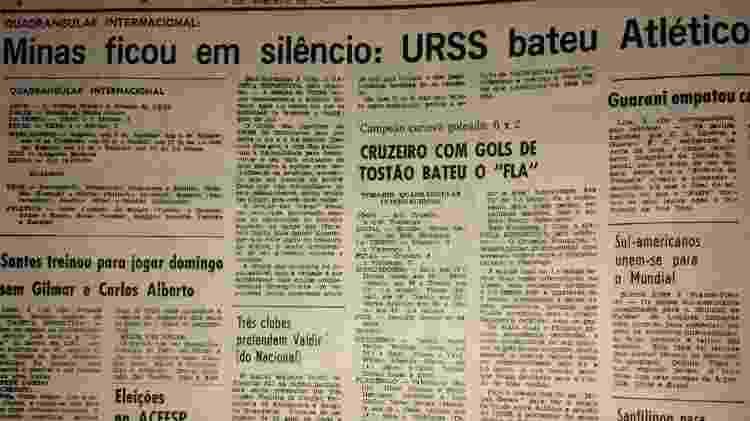 URSS goleia Atlético-MG - UOL - UOL