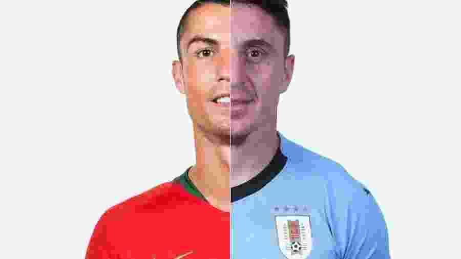 Duelo entre Uruguai e Portugal pelas oitavas terá confronto entre CR7 e CR7 468c4f0f05b87