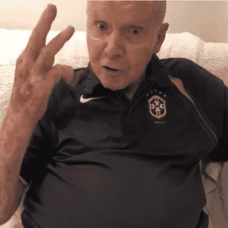 Zagallo envia recado a Galvão torcendo por muitos gols do Brasil contra a Bélgica  - Reprodução/Instagram