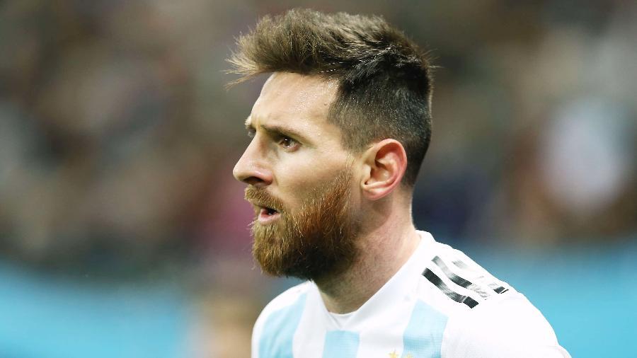 Lionel Messi pela seleção da Argentina - Oleg Nikishin/Epsilon/Getty Images